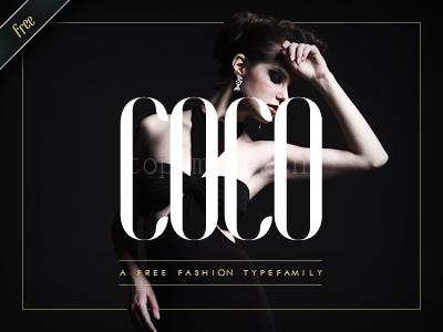 coco 时尚英文字体适合logo下载