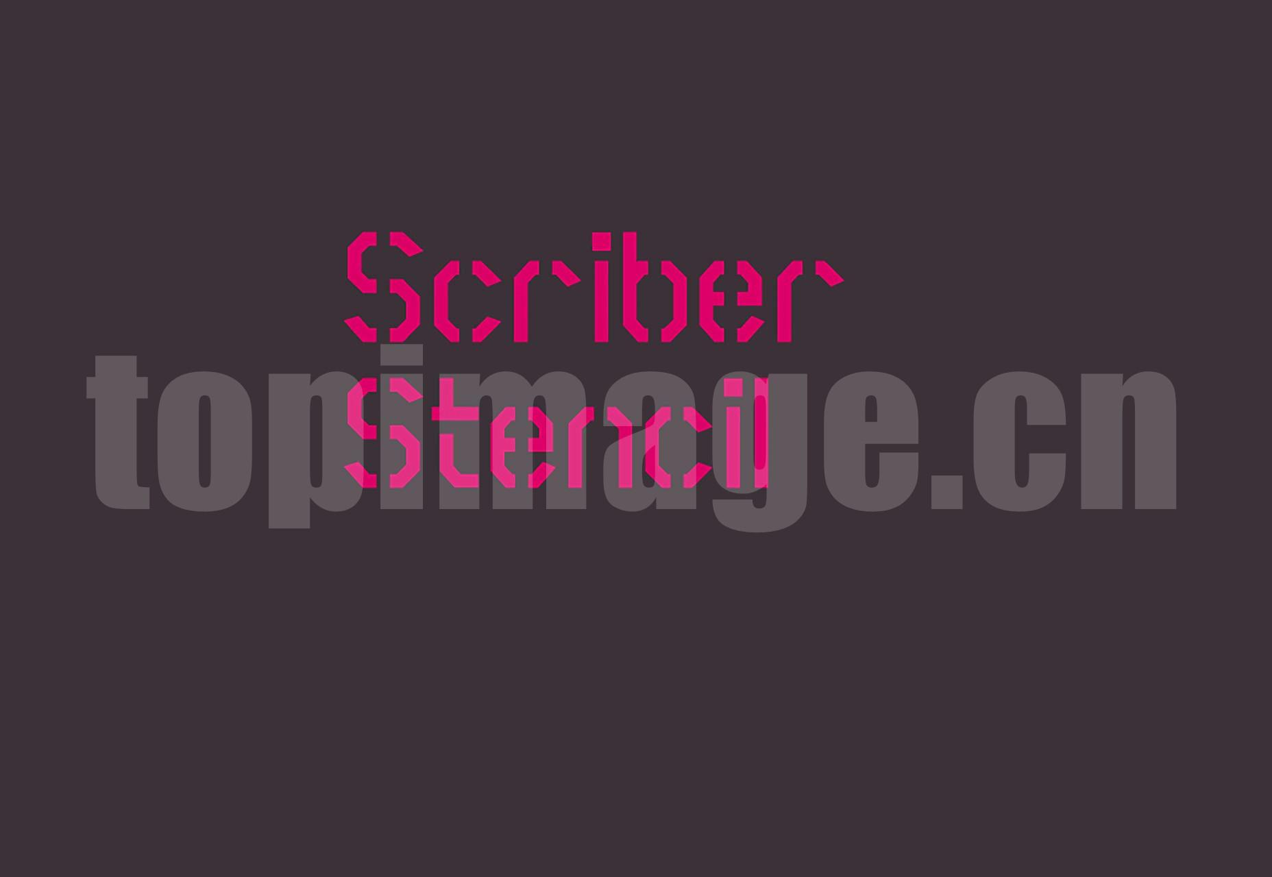 Scriber Bold Stencil 海报创意 个性字体设计 简约时尚 英文字体下载