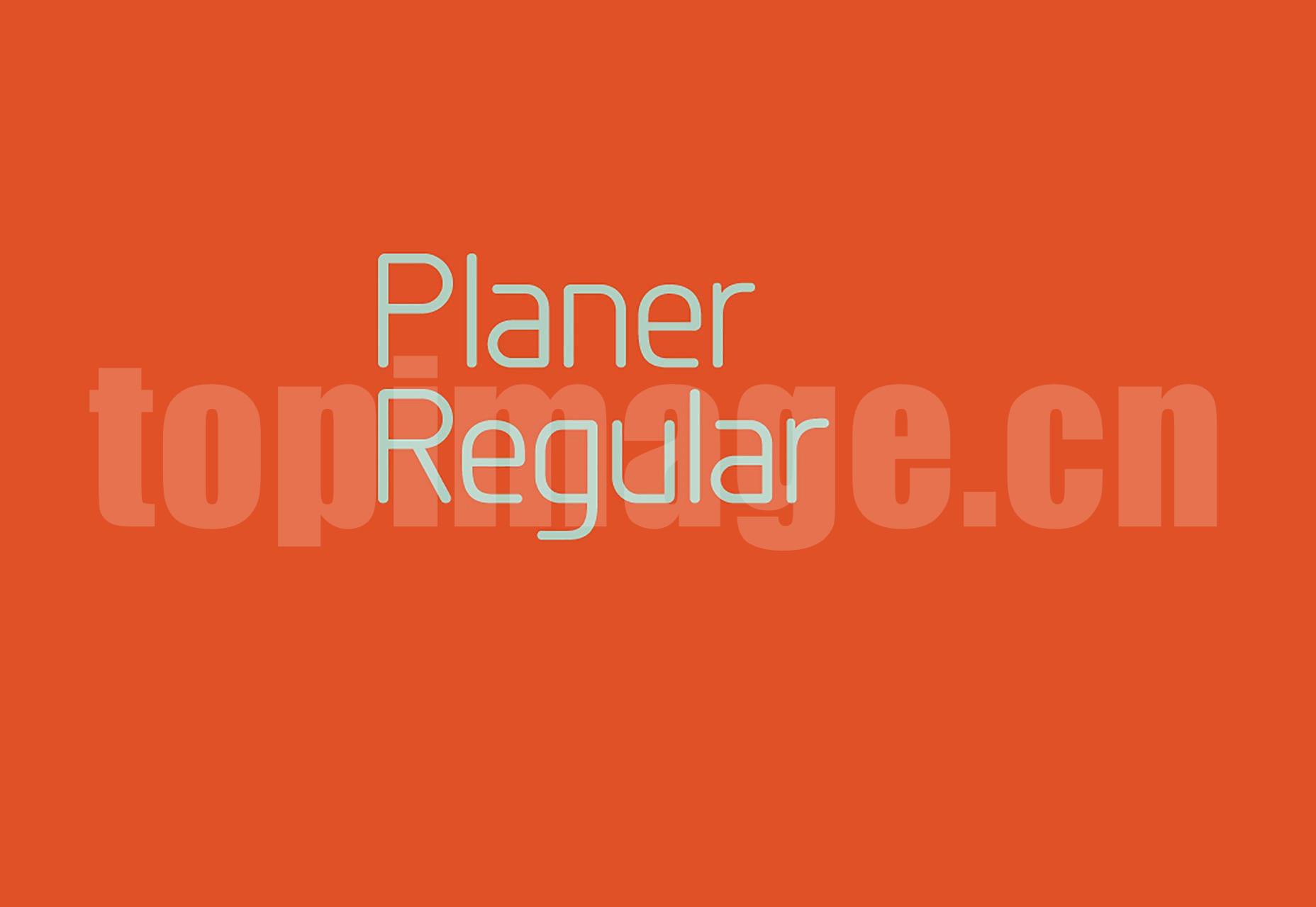 Planer_Reg 海报logo设计字体 简洁纤细 英文字体下载
