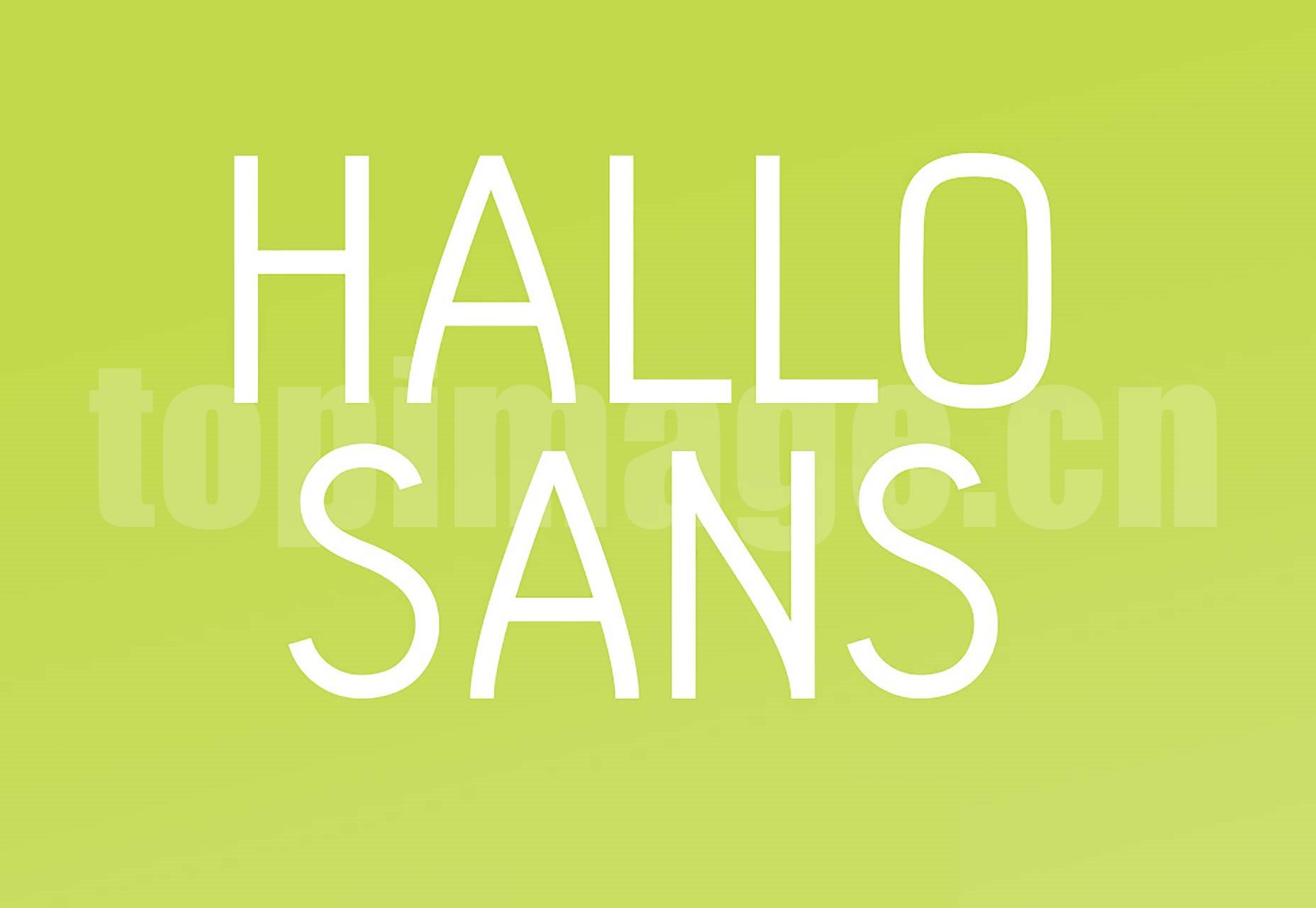 Hallo sans 海报logo 简洁纤细 英文字体下载