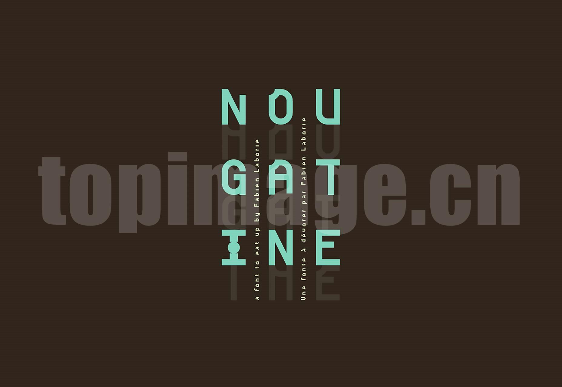 nougatine 海报logo创意字体英文字体下载