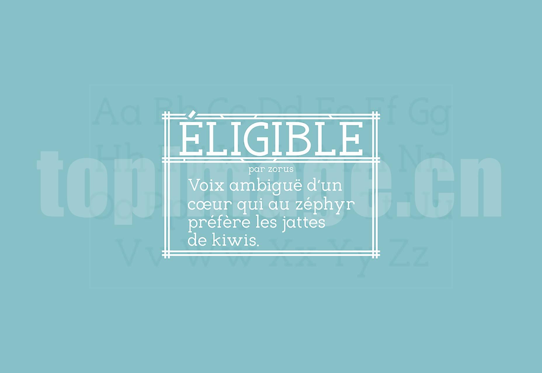 Eligible 海报logo设计字体 简洁纤细 英文字体下载