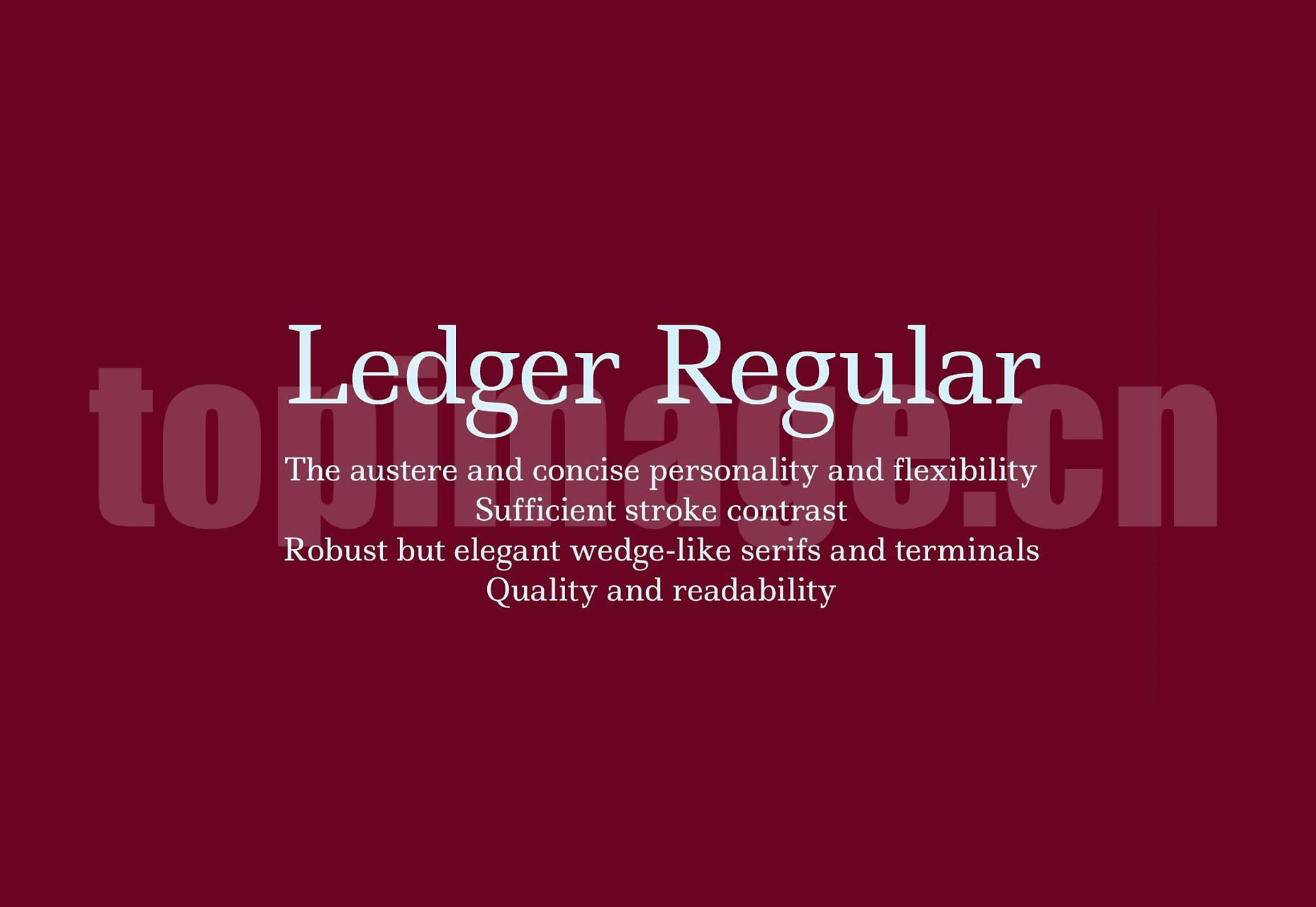 Ledger海报logo设计字体 简洁纤细 英文字体下载