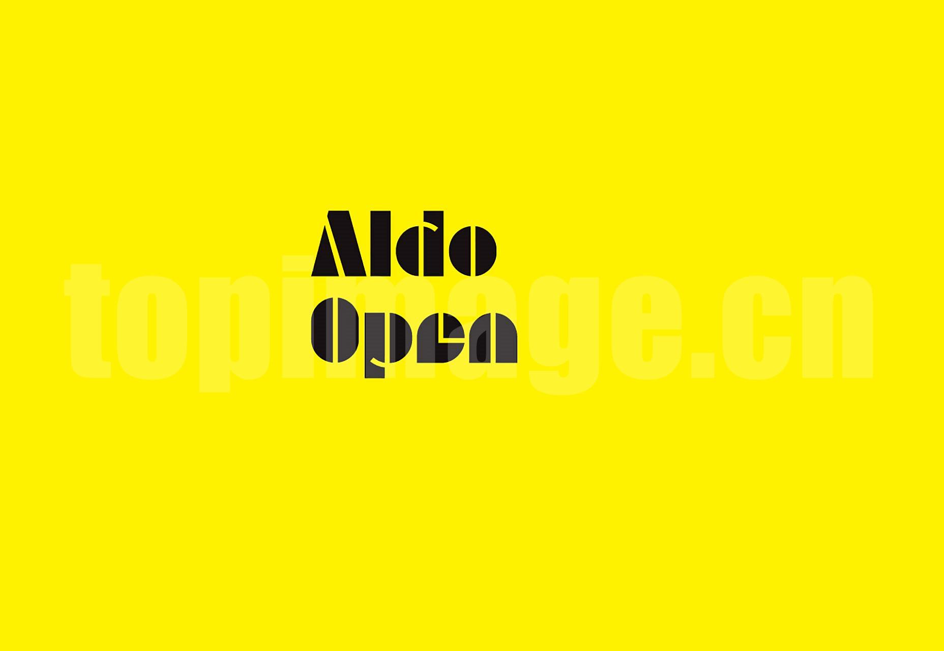 Aldo海报创意 经典logo英文字体下载