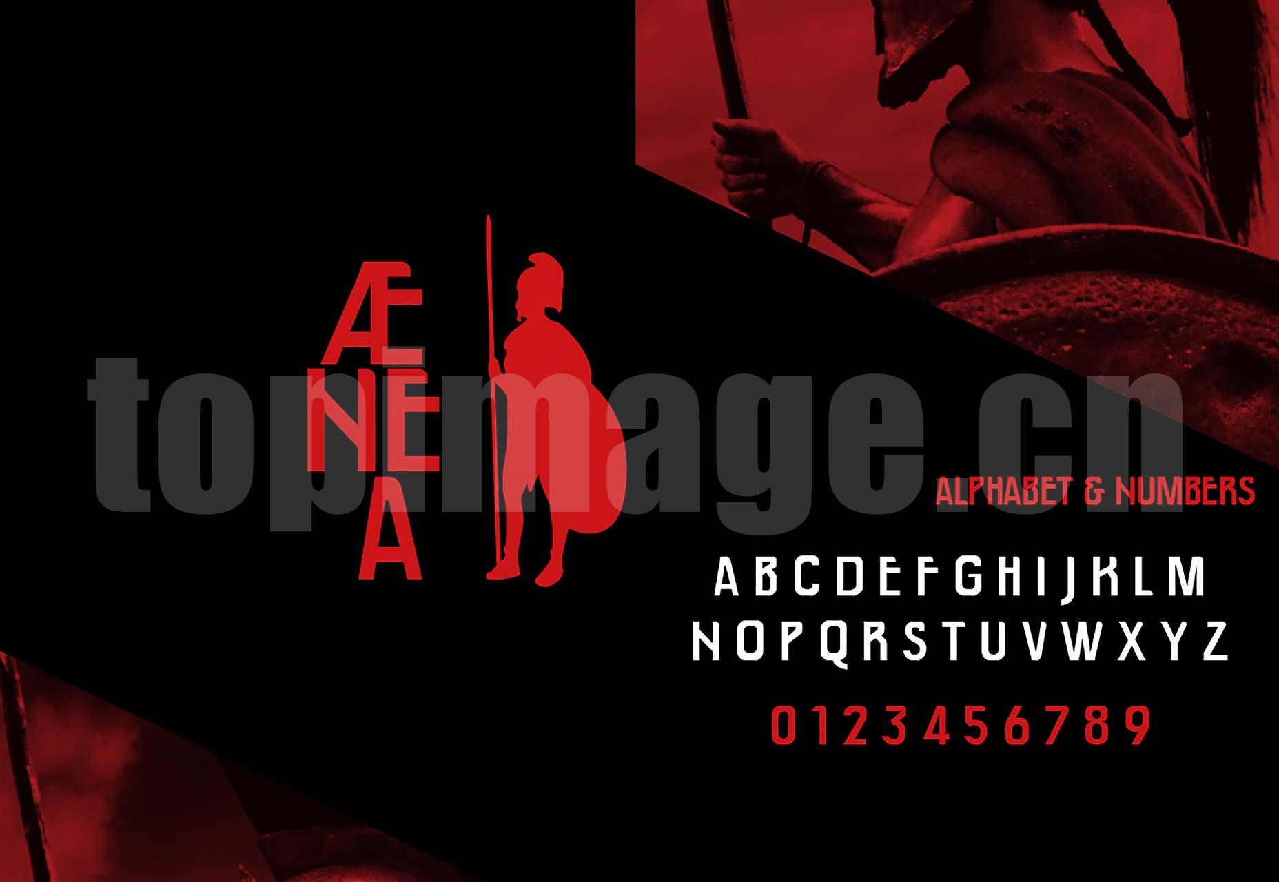 Aenea海报创意 经典个性 纤细logo英文字体下载
