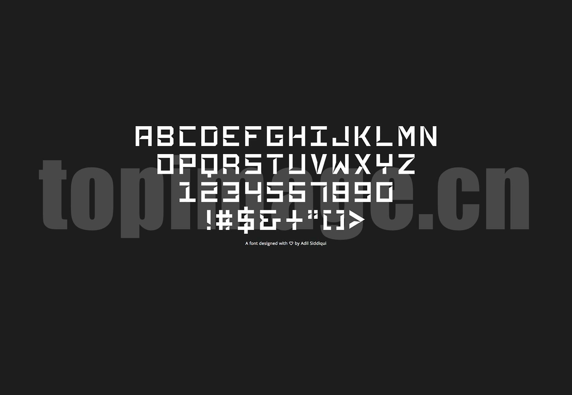 Phantasm创意个性海报 英文logo字体下载