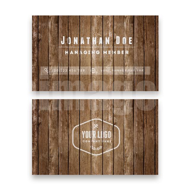 木纹纹理风格名片免费模板下载