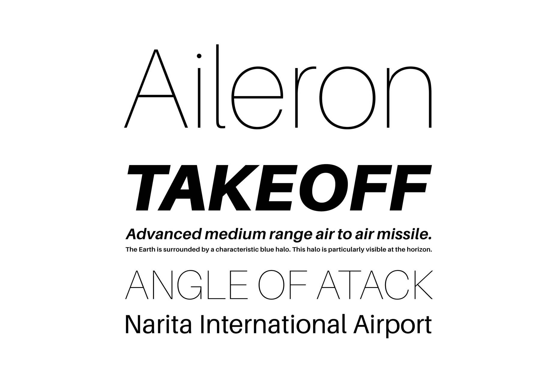 AILERON纤细现代简约英文字体下载