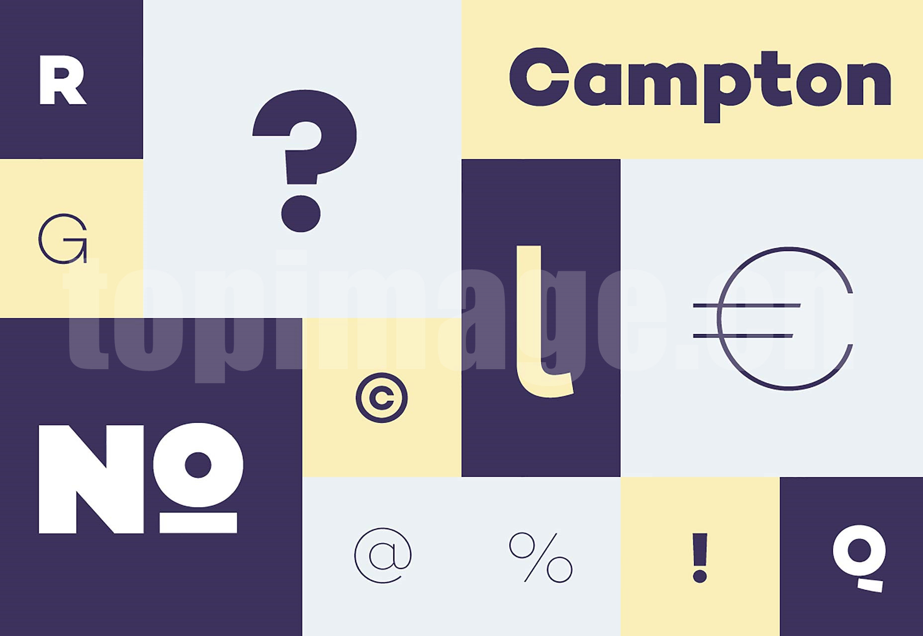 Campton创意海报 经典优雅 logo英文字体下载