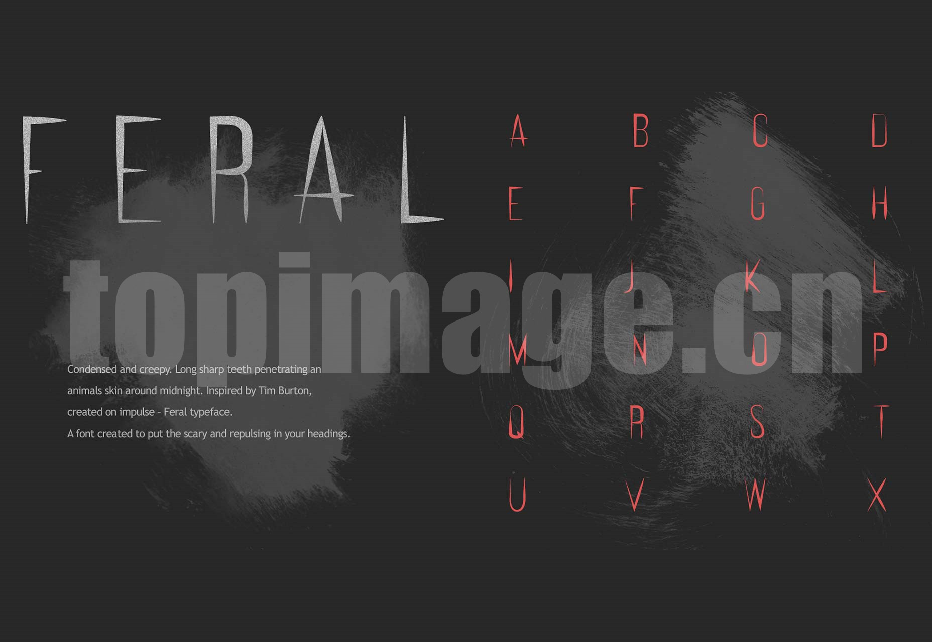 Feral哥特风 创意电影海报 英文logo字体下载
