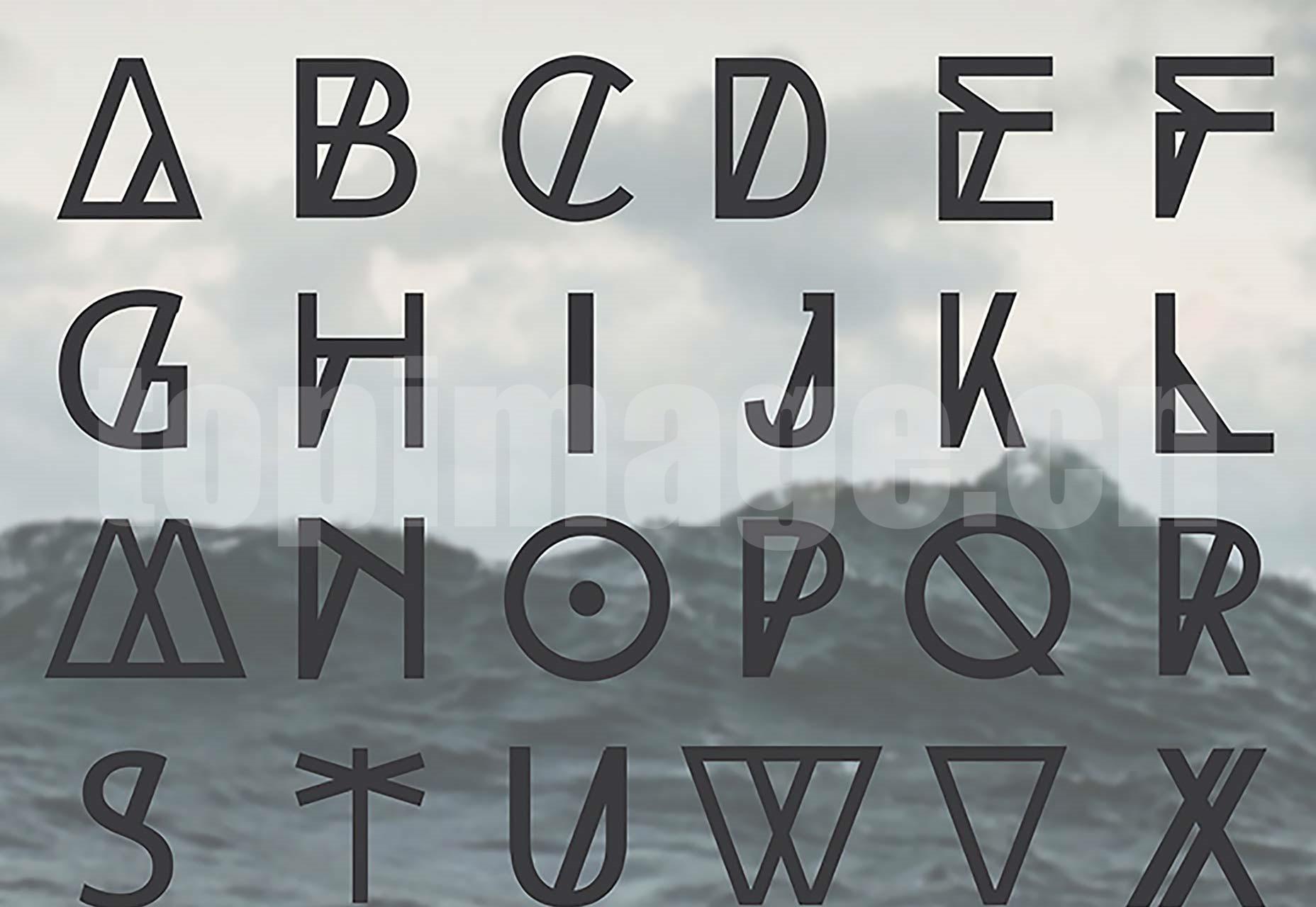 HighTide 创意海报 经典优雅 logo英文字体下载