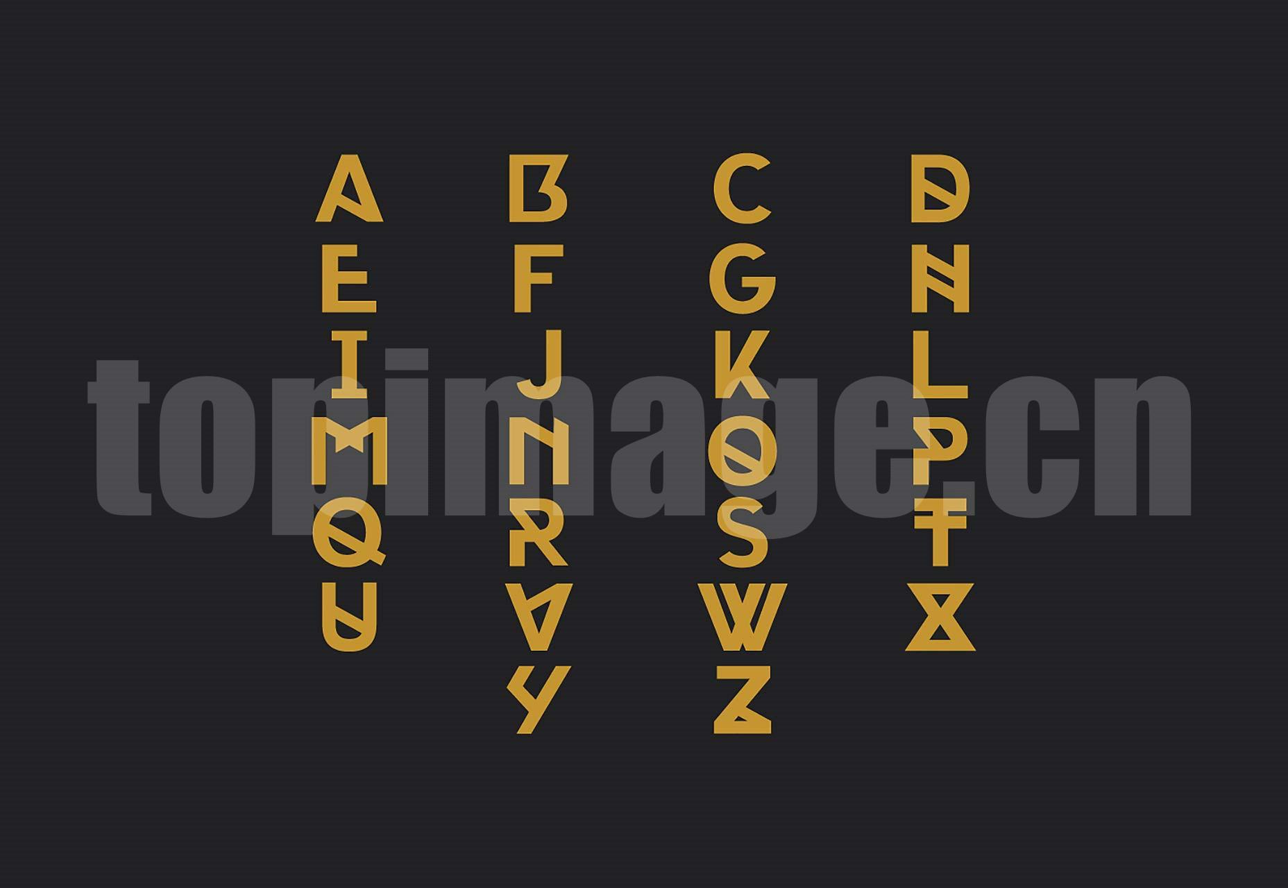 Portica创意海报 经典优雅 logo英文字体下载