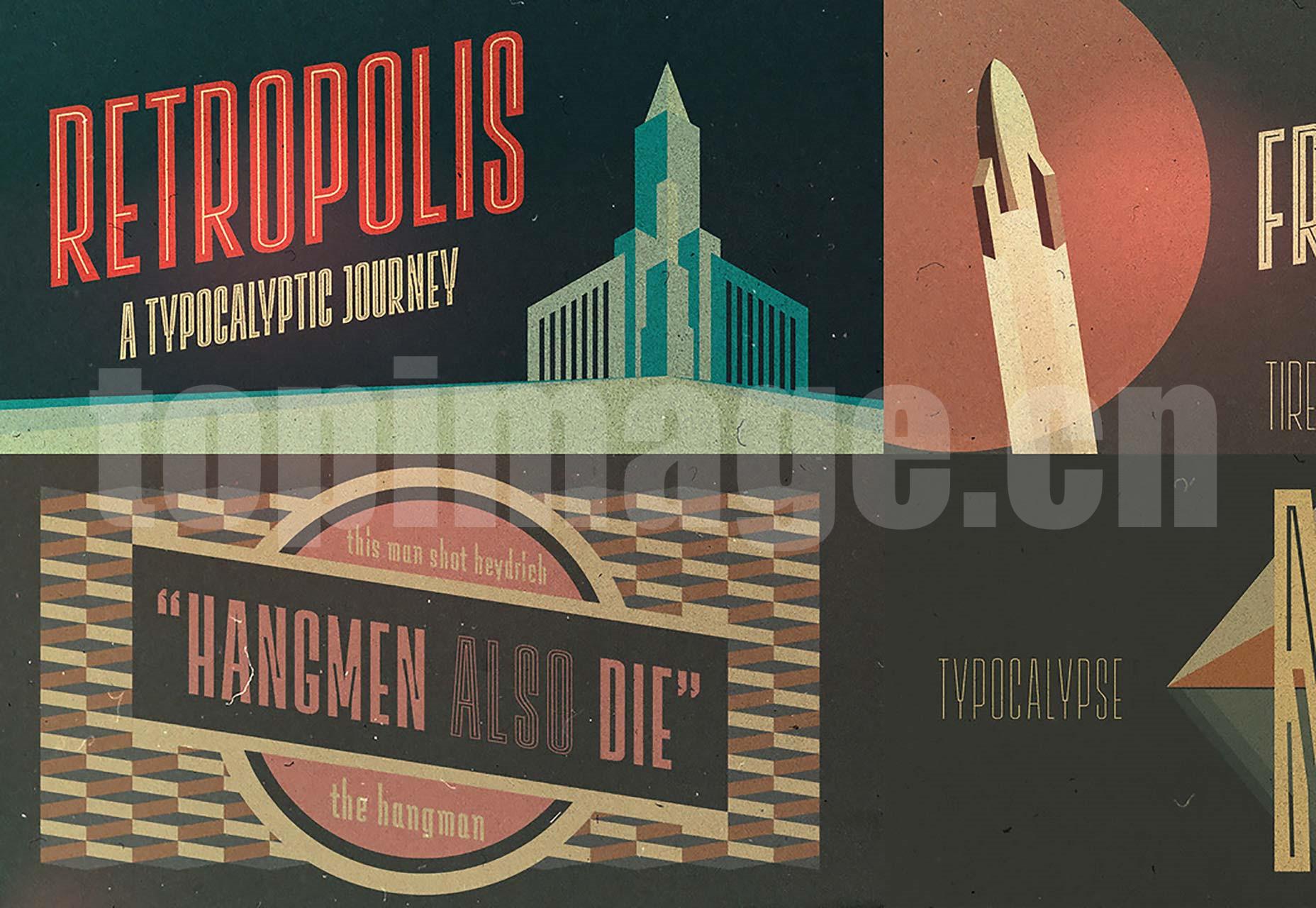 Lichtspiele Trailer创意海报 经典优雅 logo英文字体下载