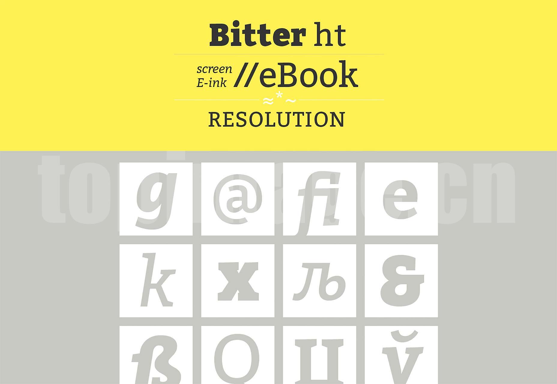 Bitter现代经典 简洁纤细 创意logo英文字体下载