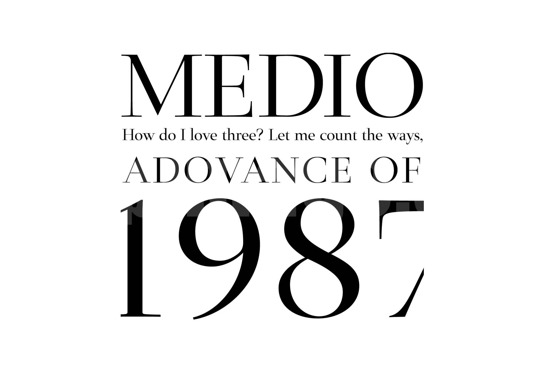 MEDIO衬线经典英文字体下载