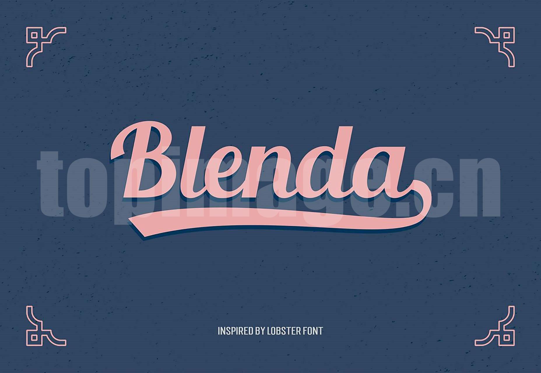 BLENDA手绘海报英文字体下载