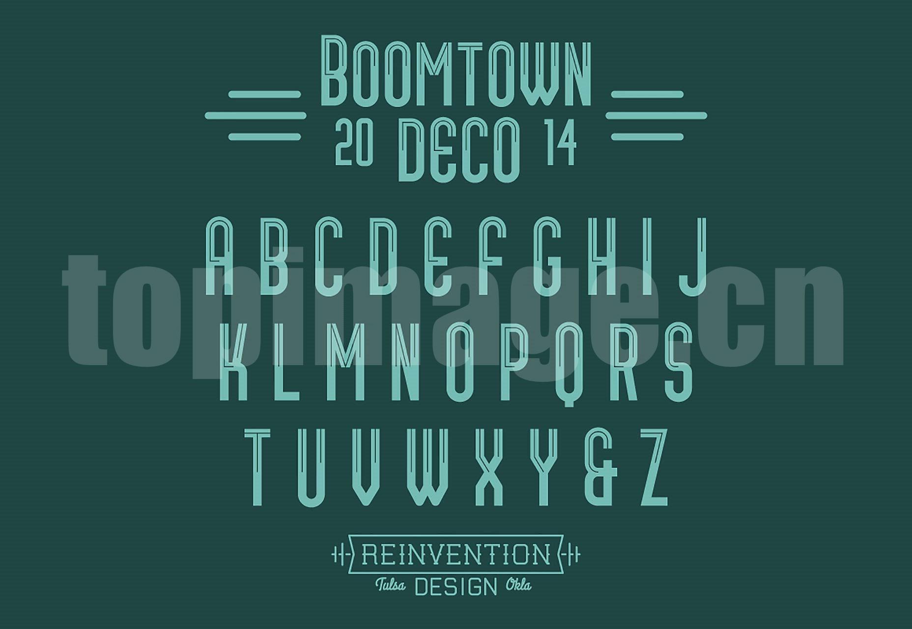 BOOMTOWN经典英文字体海报下载
