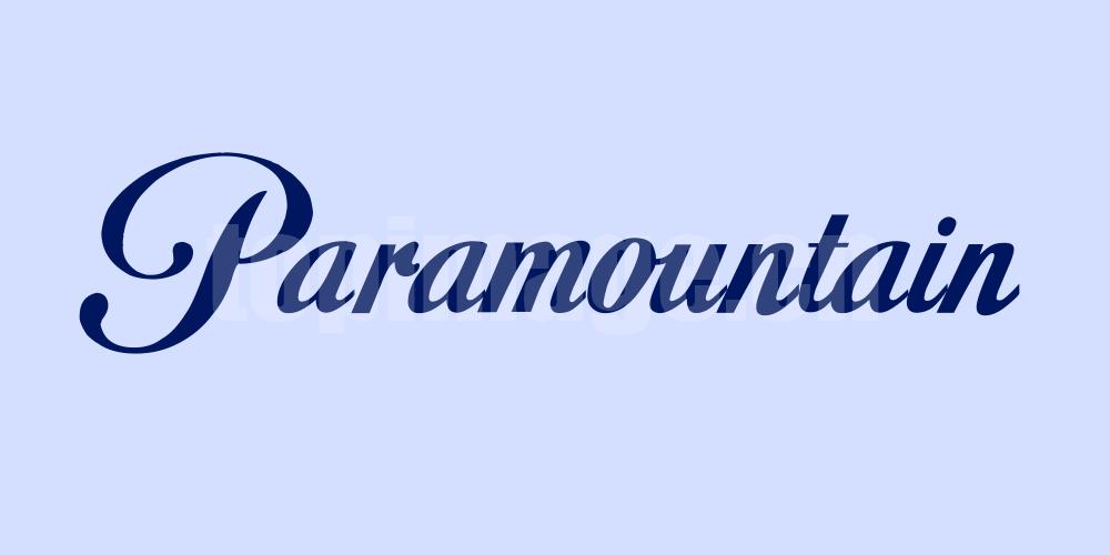 paramountain简约时尚好看的英文字体下载