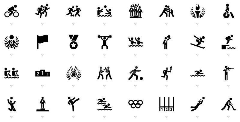 奥利匹克奥运项目运动体育项目icon 图标源文件下载
