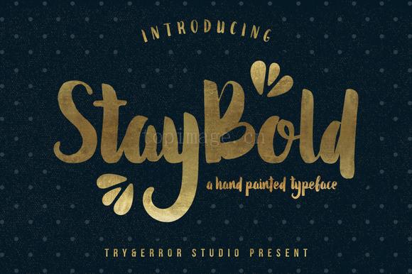 StayBold粗手绘书法好看的英文字体下载