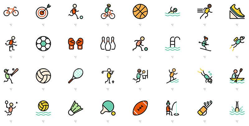扁平化mbe风格奥运项目体育运动icon图标下载