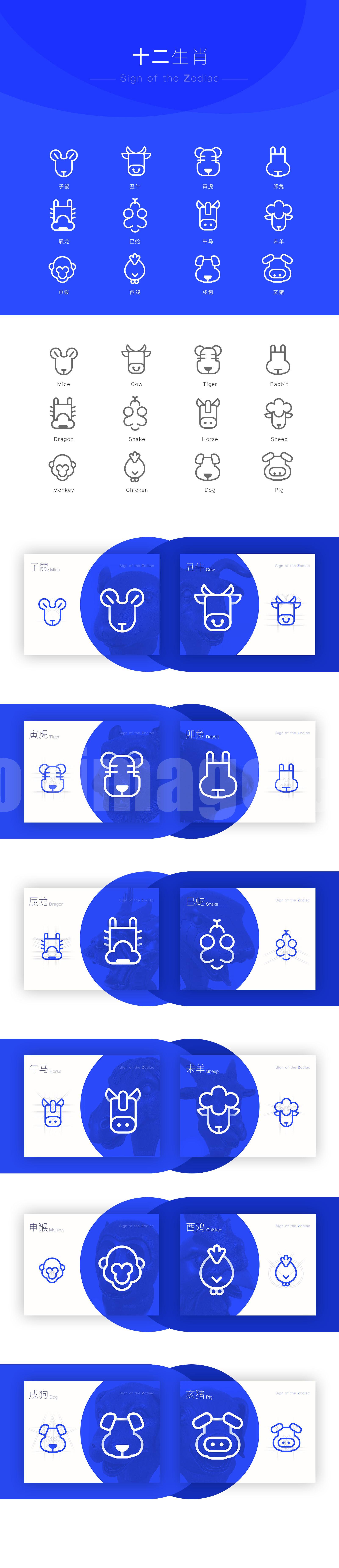 12生肖图标 sketch 模板icon源文件下载