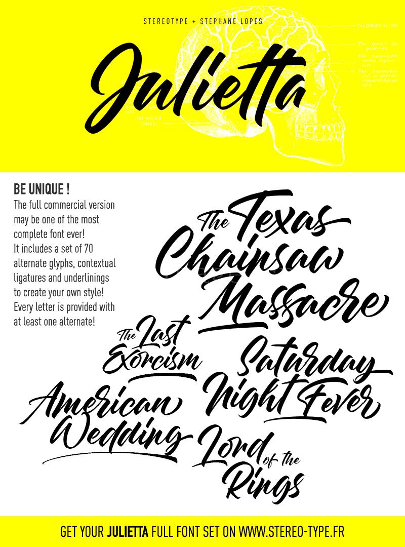 julietta手写英文字体潦草签名艺术笔刷下载