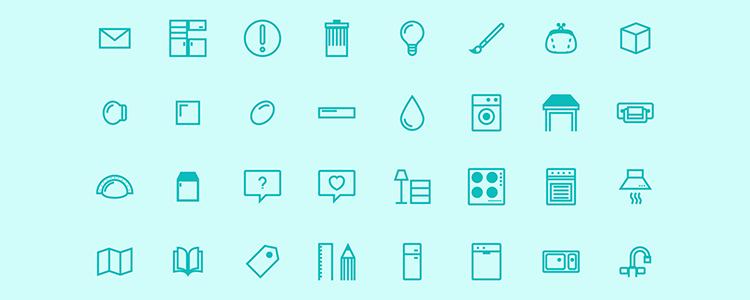 家庭 家具 洗衣机 台灯 柜子 微波炉 水龙头icon 图标下载