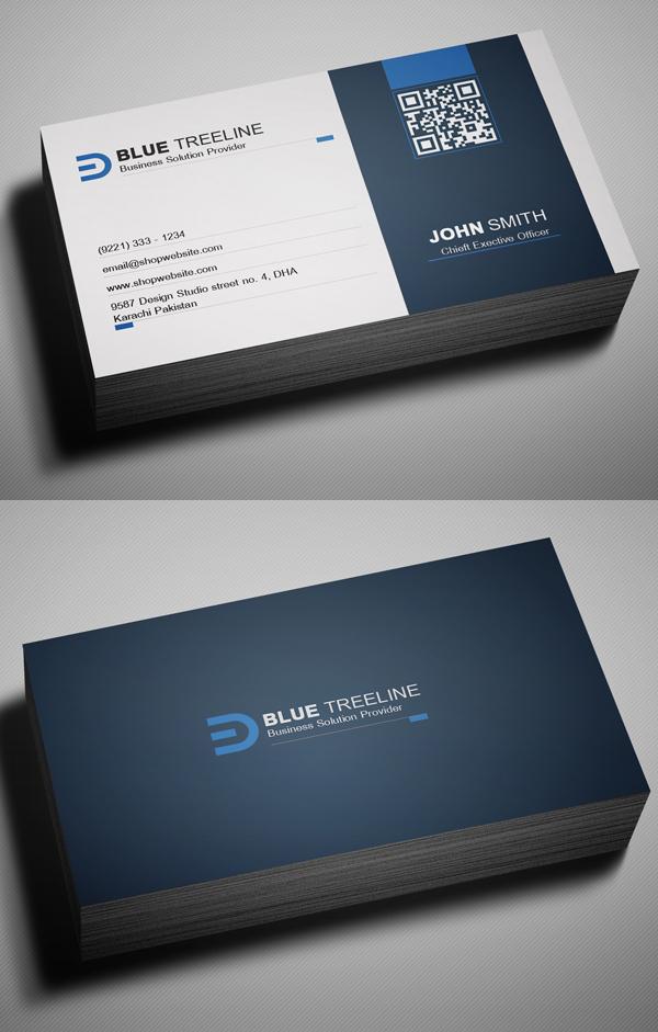 蓝色 商务 科技简约金融名片模板源文件下载