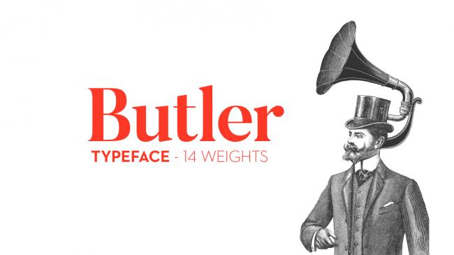 衬线字体 butler英文字体下载