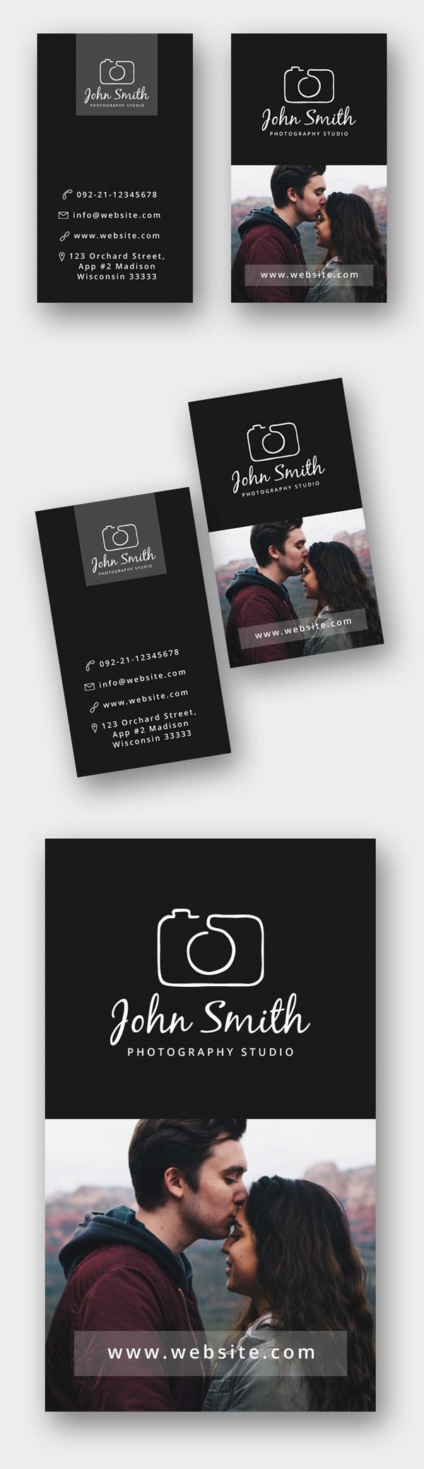 创意摄影设计工作室摄影师名片源文件模板下载