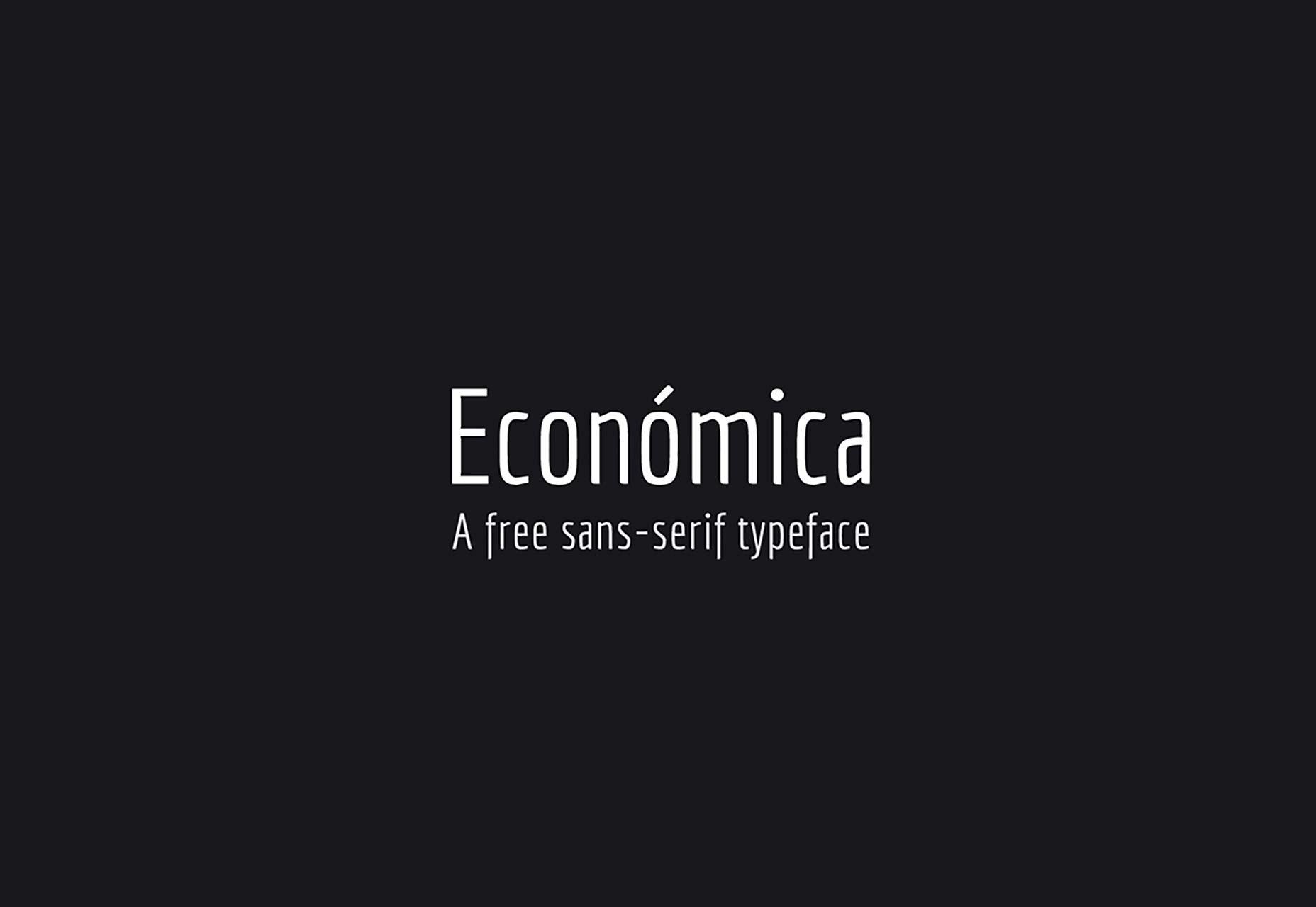 Economica 海报logo设计字体 简洁纤细 英文字体下载