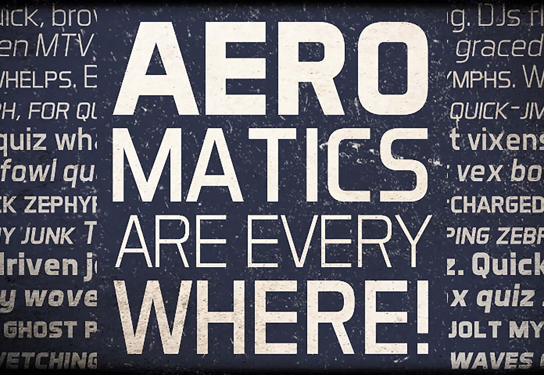 Aero Matics海报设计 复古英伦 创意英文字体下载