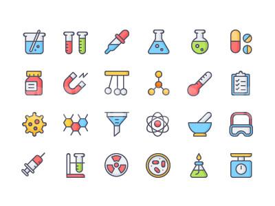 化学试剂 医疗科技相关icon 温度计 药品 烧杯 病毒 针筒元素  漏斗源文件下载