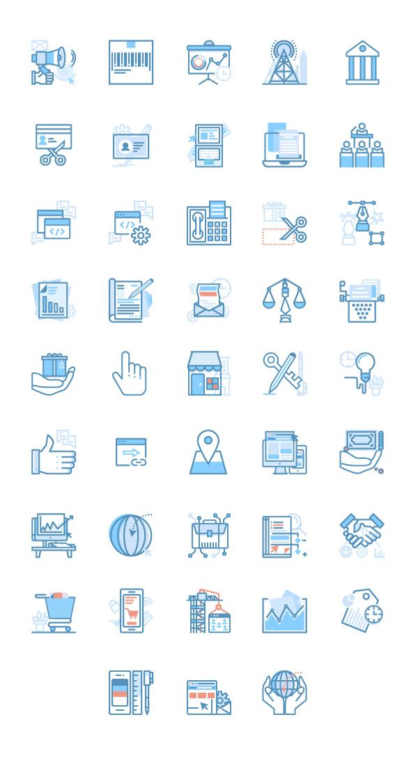 扁平矢量 线描 seo 网站建设 网络优化相关 icon源文件下载