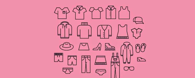 衣服 裤子 服装 帽子 鞋 线性 icon 图标源文件下载