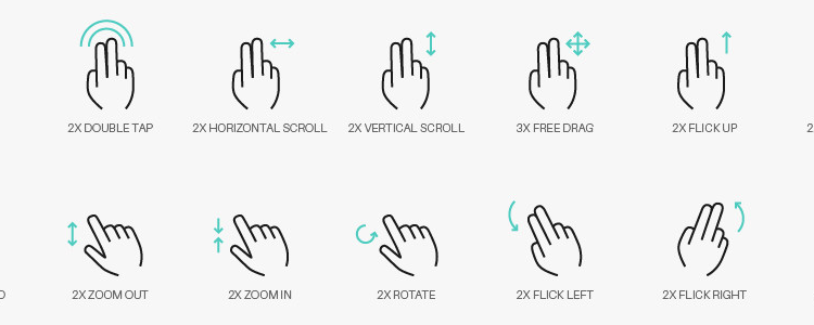 人机交互 手势图标 icon源文件下载