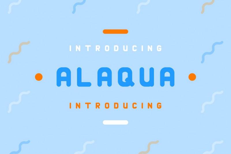 Alaqua卡通圆润无衬线可爱英文字体下载
