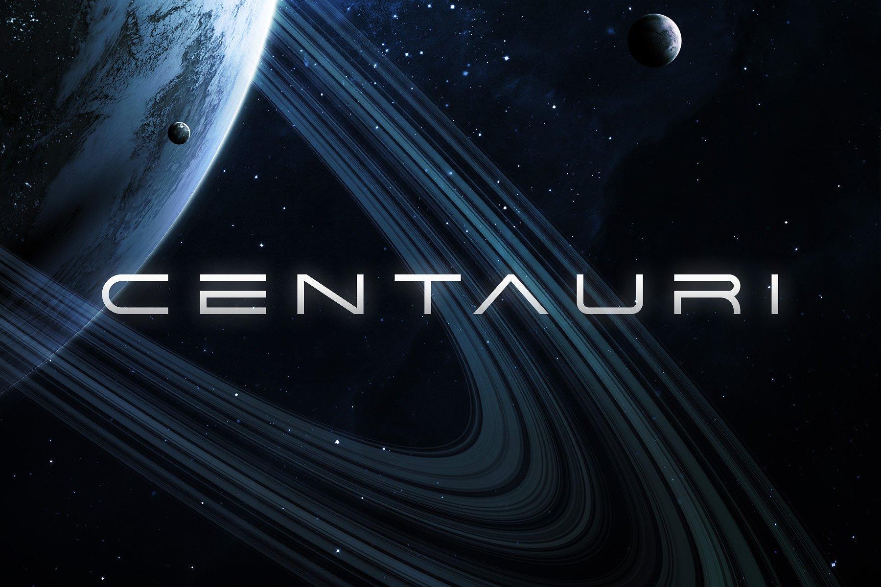 Centauri无衬线创意科技科幻logo英文字体下载