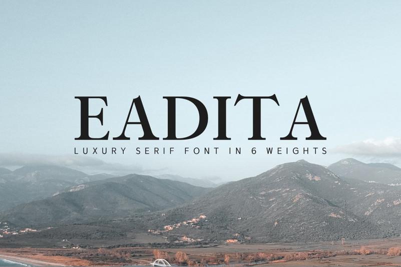 Eadita创意衬线英文字体下载