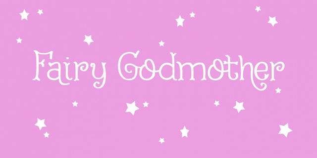 FairyGodmother可爱卡通花体衬线英文字体下载