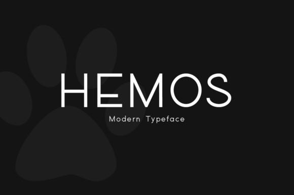 Hemos简约创意广告logo无衬线英文字体下载