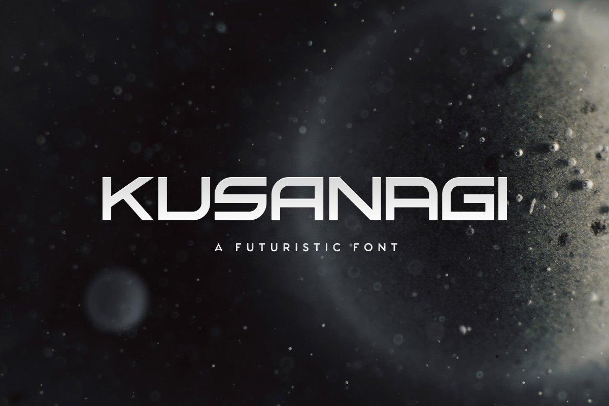 Kusanagi现代科幻科技logo无衬线英文字体下载