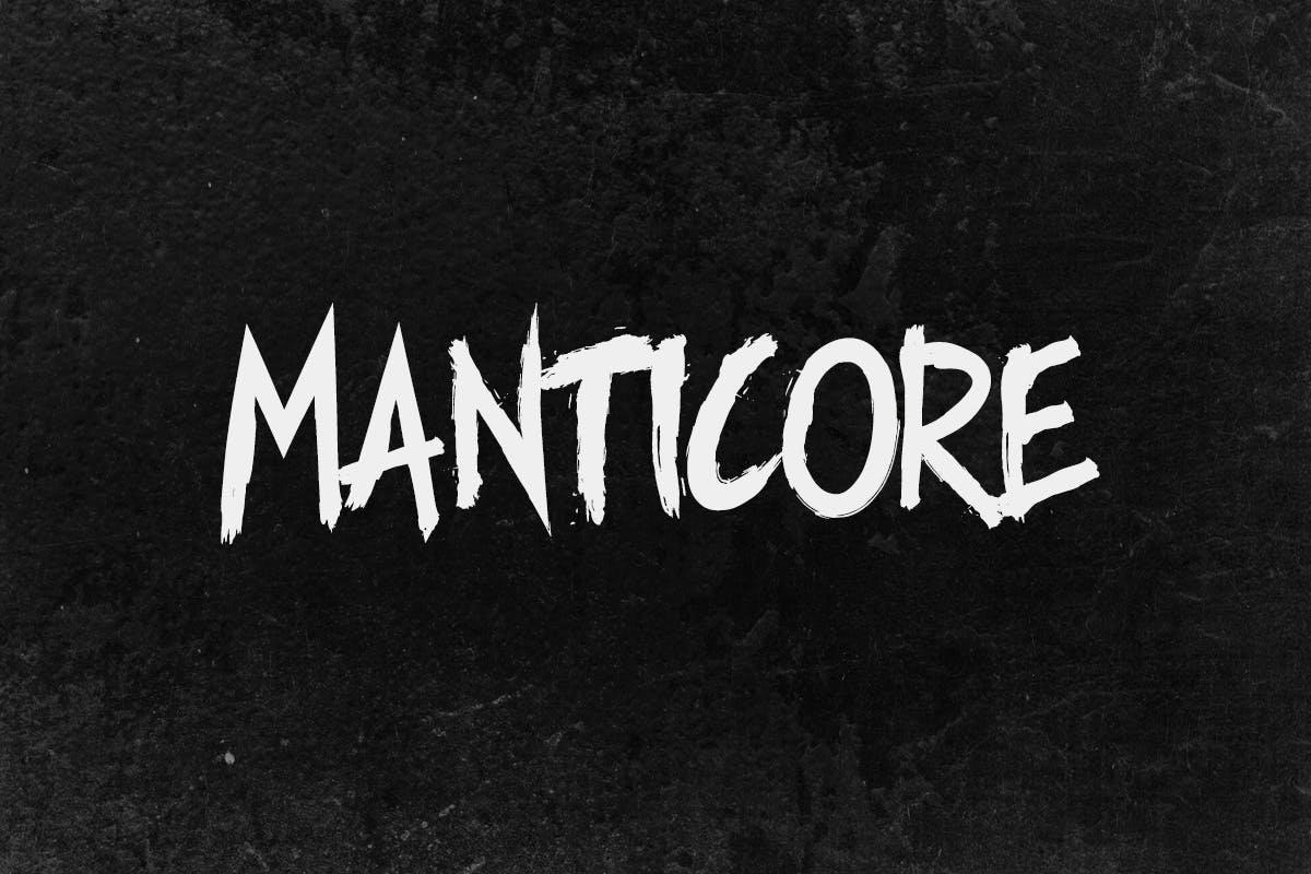 Manticore手写书法笔刷笔触英文字体下载