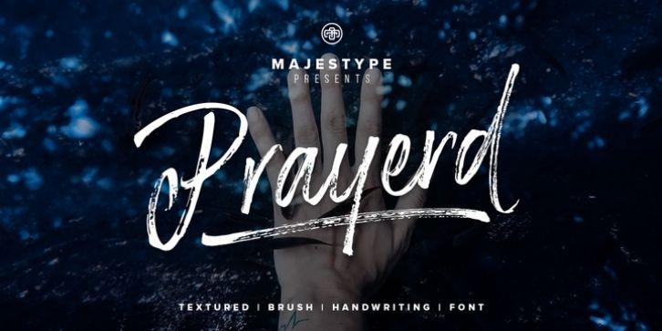 Prayerd手写书法笔刷摄影海报英文字体下载