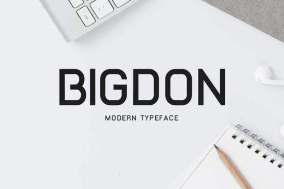 Bigdon时尚简约无衬线logo英文字体下载