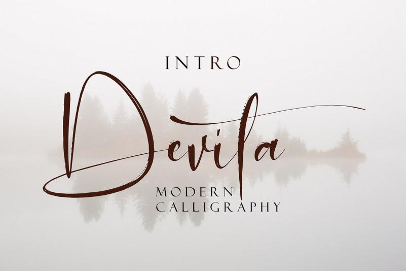 Devita书法笔触手写英文字体下载