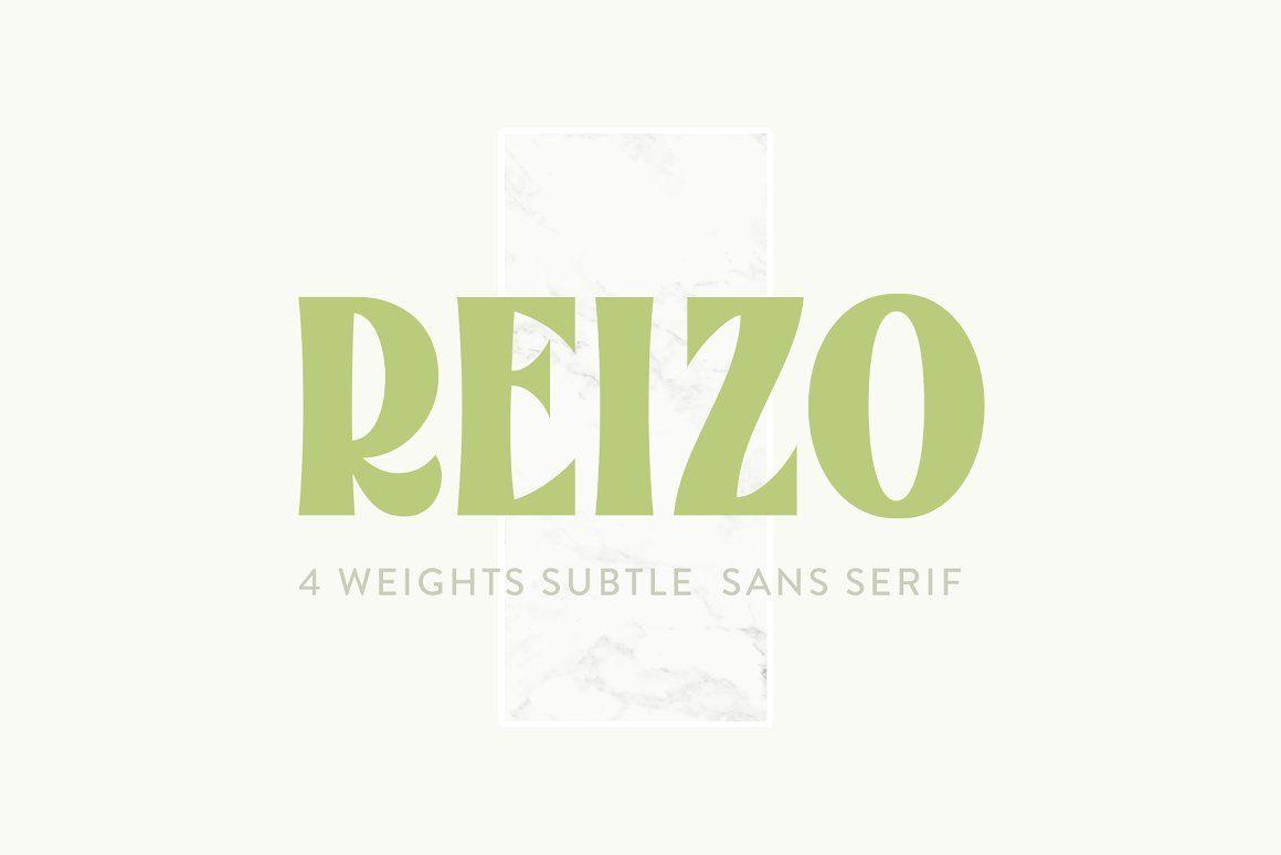 Reizo现代平面logo无衬线英文字体下载