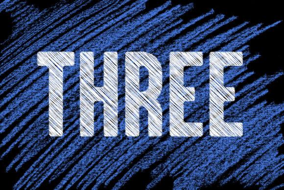 Threemore笔刷现代创意粉笔线性底纹无衬线英文字体下载