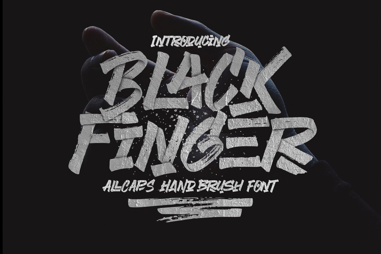 BlackFinger书法笔刷笔触个性海报英文字体下载